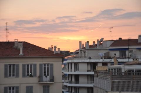 Solnedgång ifrån balkongen